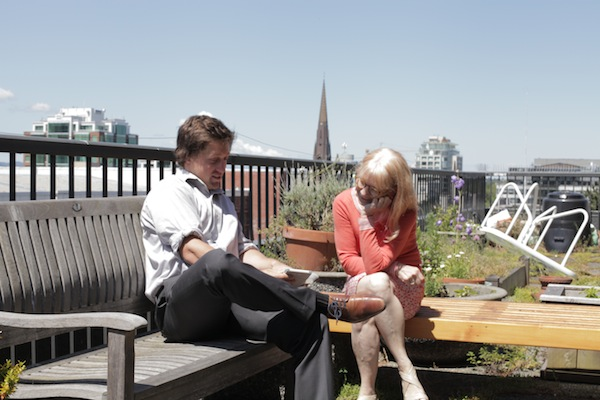 Finance meetings are a little more enjoyable when they take place out in the sunshine...
